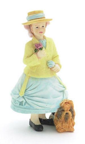 Dollhouse Miniature Doll Girl Pink Dress T8231 Abigail