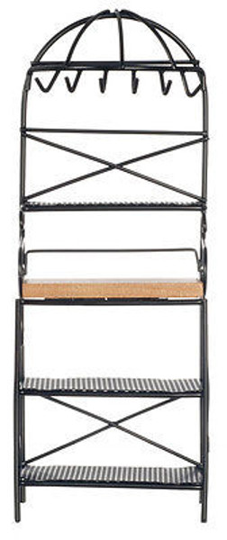 Dollhouse Miniature  - Metal Kitchen Rack - Black - CLA06815 & D6815