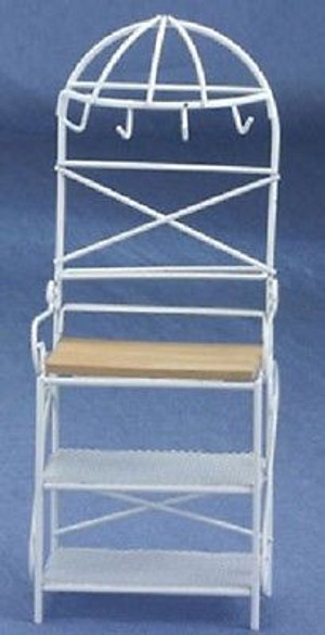 Dollhouse Miniature  - CLA10342 - G9825W - Metal Kitchen Rack - White
