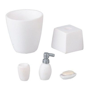 HW4058 - White Bathroom Accessory Set