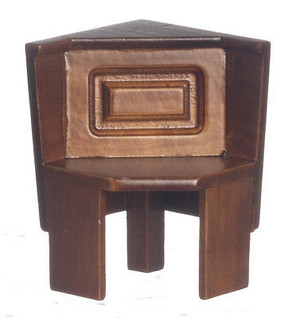 Dollhouse Miniature - T6835 - Nook Corner Bench - Walnut