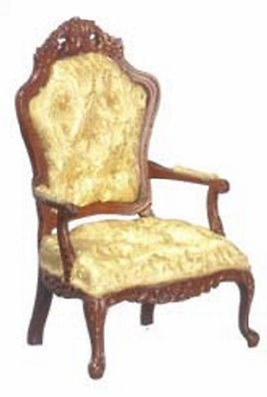 P6027 - Rococo Arm Chair - Gold & Walnut