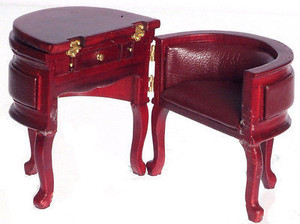 P3092 - Chadwick Desk - Red Mahogany