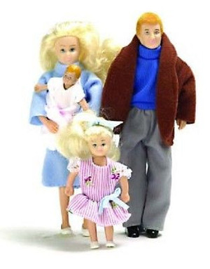Dollhouse Miniature - AZ00010 - Doll Family - Blonde