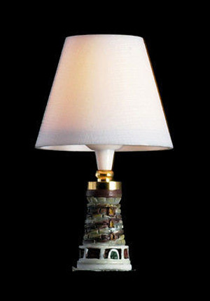 Dollhouse Miniature - T8672 Table Lamp - Lighthouse - 12v