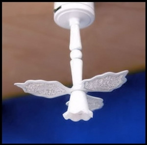 Dollhouse Miniature - Battery LED - C1S - The Wadsworth Ceiling Light Fan