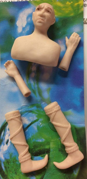 Dollhouse Miniature - Porcelain Doll Kit - Wizard - 1:12 Scale