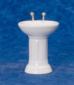 Dollhouse Miniature -T6295S - Porcelain Bathroom Sink