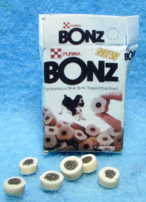 Dollhouse Miniature -FA11109 - Purina Bonz Dog Treat Box & 6 Treats