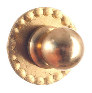 Dollhouse Miniature - S3071 - Brushed Brass Door Knob and Back Plate