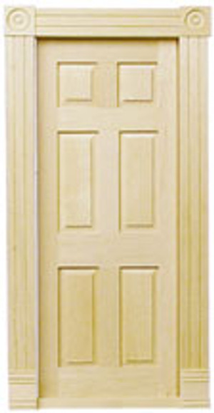 Dollhouse Miniature - HW6025 - Traditional Block & Trim Interior Door