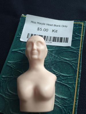Doll Blank - Miss Marple Head Blank Only