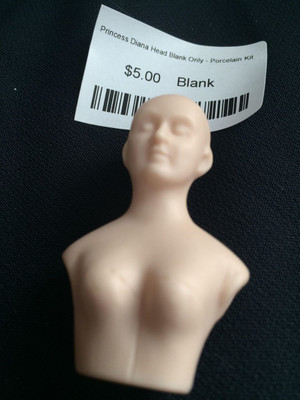 Doll Blank - Princess Diana Head Blank Only