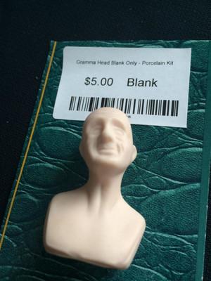Doll Blank - Grandma Head Blank Only