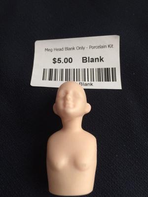 Doll Blank -Meg Head Blank Only