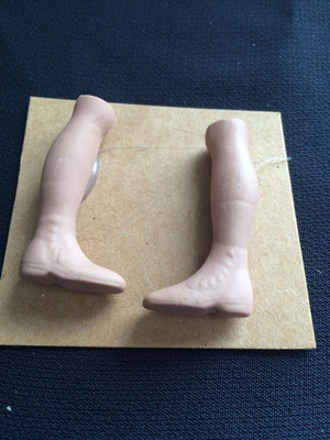 Doll Blank - Man Leg and Boot (