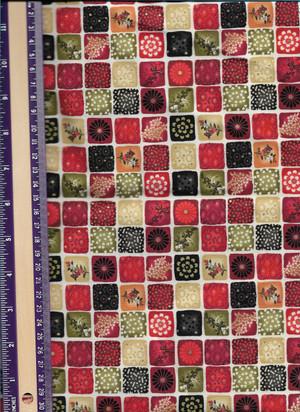 2929 - Fabric:  Henley Studio - Mini Squares Kimono