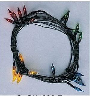 CK1020-7- 24 Bulb Coloured Flame Tip Chritmas String - 70 ma