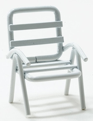 IM65367 - 1:24 Scale Chair - White - Outdoor