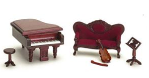 T0213 - 1:24 Scale Music Room Set - Mahogany