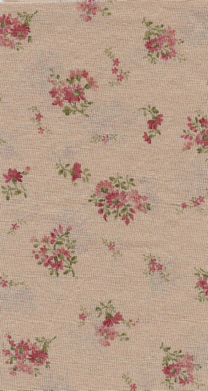 2924 - Fabric: Beige with Red Flowers