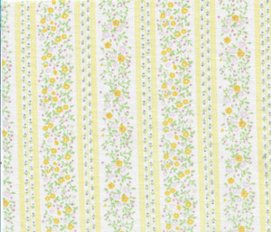 """4190102 - Fabric: Pale Yellow Floral - 4-3/4"""" x 6"""""""