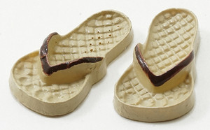 IM65129 - Flip Flops Tan and Brown - Large