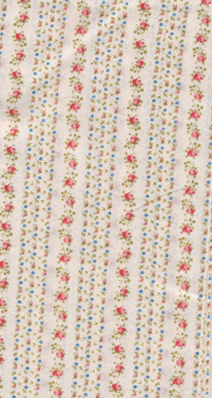 "41901271 - Fabric:  Cream with Orange Flowers - 6"" x 9"""