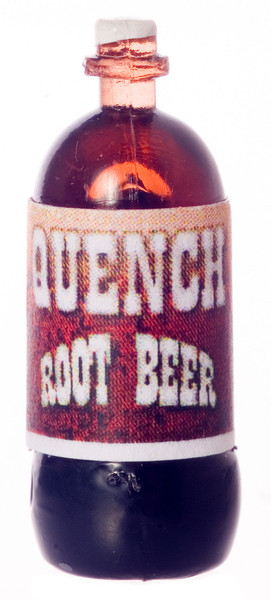 Dollhouse Miniature - QUENCH ROOT BEER - 2 LITER - FA40247