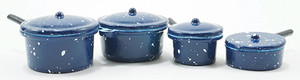 IM65100 - Blue Enamelware Cookware - Set/8