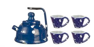 D0866 - Blue Spatterware Tea Set/5