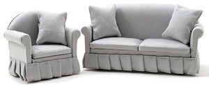 CLA91708 - Sofa & Chair - Gray
