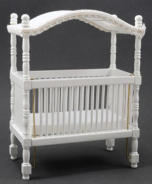 CLA10361 - Canopy Crib - White