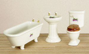 00301 - Bath Set/3 with Decals