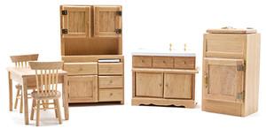 CLA0144 - Kitchen Set/6 - Oak