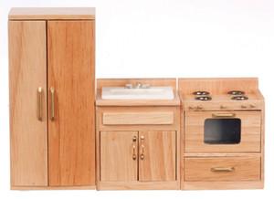 T4261 - Kitchen Set - 3 Pc - Oak