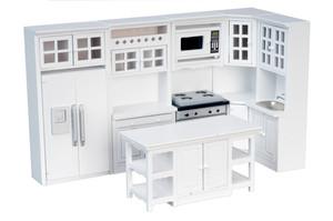 T5425 - Kitchen Set - White - 8 pc