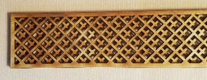 "104C - Cross Lattice - 1-1/2"" x 24"""