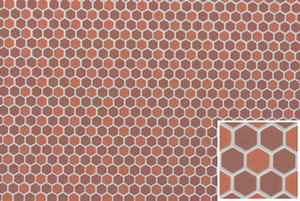 FF60693 - Dark/Light Terra Cotta Hexagons