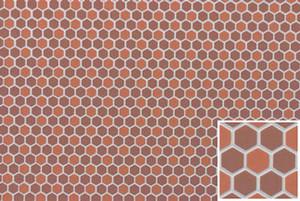 FF60693 - Dark/Light Terra Cotta Hexagons