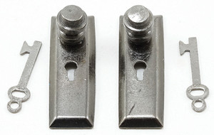 CLA05525 - Door Knob with Key - Pewter