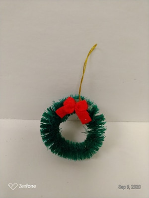 Wreath - Green with Red Bow