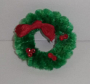 Wreath - Fuzzy Dark Green