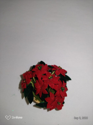 Poinsettia - Red - In a Bowl