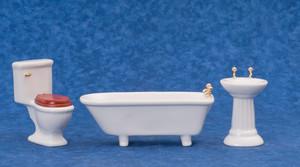 M0349W  - 3 Piece Bathroom - White