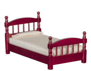 T3330 - Single Bed - Mahogany