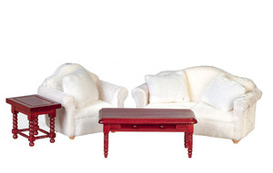 GA0424W - Living Room Set - White - Set/4