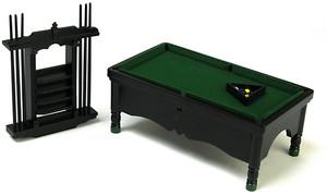 T5984 - Pool Table Set - Black