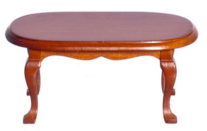D6848 - Oval Coffee Table - Walnut