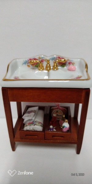 Reutter Porcelain Victoria Rose Bathroom Sink